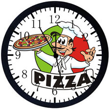 Pizza Chef Black Frame Wall Clock Nice For Decor or Gifts E166