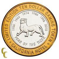 Sam Boyd's Las Vegas NV $10 Gaming Token Year of the Tiger 999 Fine Silver