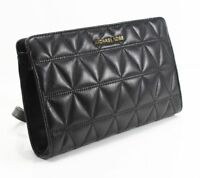 Pre Owned Michael Kors Quilted Leather Large Clutch Crossbody Handbag $188