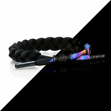 Brand New RASTACLAT Void 3M Iridescent Black Braided Shoelace Bracelet