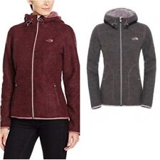 NWT The North Face Women's Zermatt Full Zip Hoody New Red & Gray Heather $185
