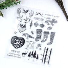 Weihnachtsstrumpf / Deer Clear Silikon Stempel DIY Scrapbooking / Fotoalbum ZP