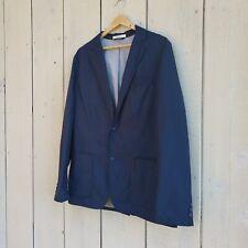 Club Monaco Navy Blue Blazer Jacket Check Lining Size 40