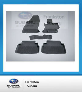 NEW GENUINE SUBARU IMPREZA & XV RUBBER FLOOR MATS FULL SET 2017-2020