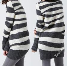 McQ by Alexander McQueen Oversize Stripe Knit Cardigan Jumper Top-S/UK10/IT44