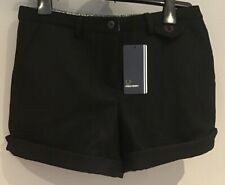 ":: Fred Perry: Damen Wolle Shorts (uk10-Taille 30"") schwarz"