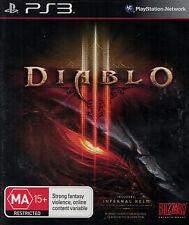 Diablo III, Diablo 3, Sony Playstation 3 game complete, PS3, USED