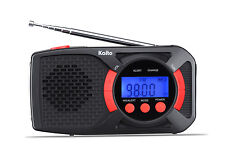 Kaito Voyager DX KA360 Solar Crank AM/FM NOAA Weather Alert Emergency Radio Red