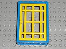 Porte LEGO FABULAND blue Door frame 4071a + yellow door 4611 / Set 3664 Police