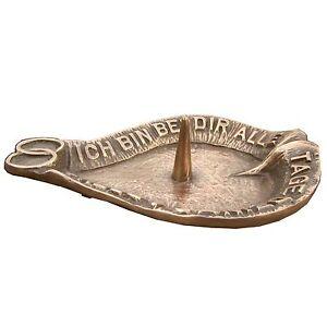 Hochzeitskerzen Leuchter Ständer oval Bronze   wedding candle holder