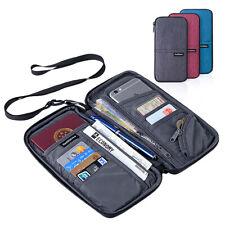 Waterproof Passport Wallet Ticket Card Holder Travel Clutch Handbag Organizer US