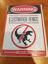 Jurassic World Park Warning Sign Raptor Electrified Fence NEW Sealed Loot Crate