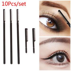 10Pcs Eyelash Curler Makeup Lash Separator Brush Comb Mascara Curl Cosmetic T`