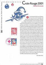 Document Philatélique Timbre 1er Jour : 08/11/ 2001 - Croix Rouge - Fêtes