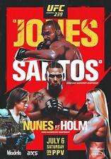 UFC 239 Poster - Jon Jones vs Thiago Santos - Nunes vs Holm - MMA - 11x17 13x19
