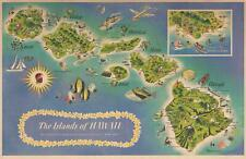 1960 Dessiaume Pictorial Map of Hawaii