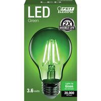 FEIT Electric  Filament  LED Bulb  3.6 watts A-Line  A19  Green