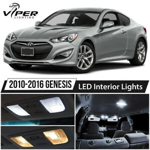 White LED Lights Interior Package Kit for 2010-2016 Hyundai Genesis Coupe