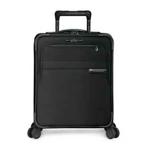 NEW Briggs & Riley Baseline Commuter  Expandable Black Carry On Spinner Suitcase