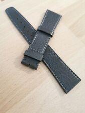 Bracelet Omega Cuir Veau Gris Slim 20x16