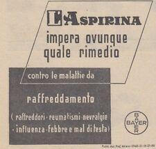 Y3725 Aspirina Bayer - Pubblicità d'epoca - 1937 vintage advertising