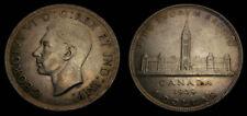 Canada 1939 One 1 Dollar Piece King George VI Toned EF+