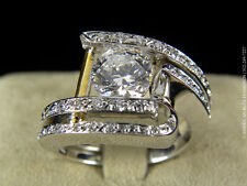 Claude Thibaudeau Engagement Ring-PLT365SE-0.60CT VS1 F 18K&Pd White-ABD#1820