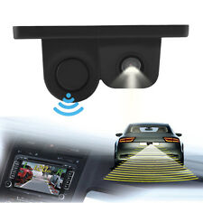 2-in-1 Car Parking Kit Reverse Parking Radar Sensor Car Camera Rear View Backup