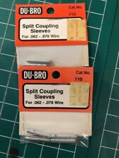 Du-bro Split Coupling Sleeves For .062 - .078 Wire 2 Packs Of 4 Units Each.