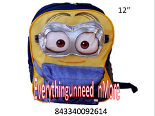 "Despicable Me Minions Kids 3D Small 12"" School Backpack-2614"