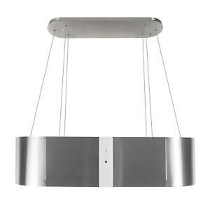 Dunstabzugshaube Inselhaube 120cm Edelstahl Weiß Glas 1000m³/h EEK B Umluft