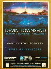 Devin Townsend - Glasgow dec.2019 live music show memorabilia concert gig poster