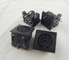 5pcs DIN 6 Pin Circular Jack Female Panel Mount PCB Mount Connector Adapter