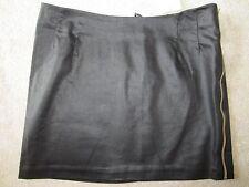 Womens H&M Black Mini Stretch Skirt 2 Side Zips Size SMALL Nwt GREAT FIT STYLISH