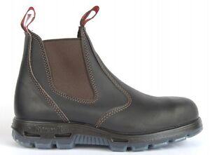 Redback Bobcat Claret Oil Kip Steel Toe Safety Work Boots USBOK Elastic Sided