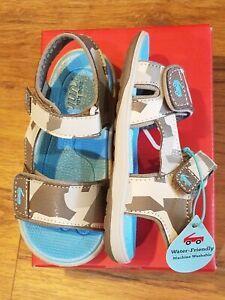 "New See Kai Run""Jetty III"" grey camo machine wash runners sandals, 6 ,NWT"