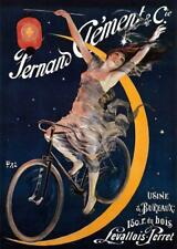 AD, SEMI-NUDE WOMAN, BICYCLE, LANTERN, CLEMENT CYCLES, FRENCH, FRIDGE MAGNET