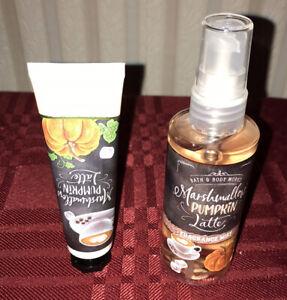 Bath & Body Works Marshmallow Pumpkin Latte Fragrance Mist & Hand Cream Travel S