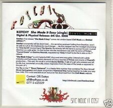 (I700) Kotchy, She Made It Easy - DJ CD