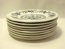 """Set of 8 Wedgwood Blue Onion 6"""" Bread & Butter Plates"""