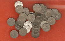 40 Assorted Canada King George V five cent coins (all nice coins no culls) lot 4