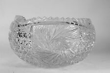 Vintage Cut Crystal Bowl Turkish Glass
