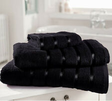 PACK OF 2 BLACK LUXURY & SOFT BATH SHEETS IN 100% EGYPTIAN COTTON FREE POSTAGE