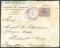 GUATEMALA TO ARGENTINA Cover w/Advertising 1905 VERY GOOD