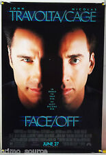 FACE/OFF DS ROLLED ADV ORIG 1SH MOVIE POSTER NICOLAS CAGE JOHN WOO ACTION (1997)
