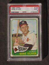 1965 Topps Gene Oliver # 106 Braves PSA 9 MINT