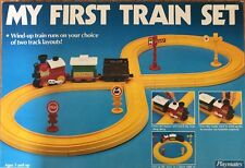 VTG 1987 PLAYMATES My First Train Set COMPLETE Wind Up 18 Pc in Box