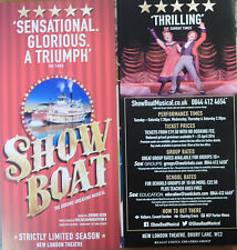 SHOW BOAT – NEW LONDON THEATRE, LONDON – FLYER 2016 - OPENS APRIL 2016