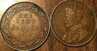 1912 CANADA LARGE 1 CENT COIN PENNY VG-F BUY 1 OR MORE ITS FREE SHIPPING!