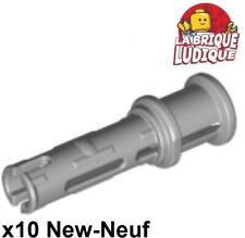 Lego technic- 10x Pin Long with Friction gris clair/light bluish gray 32054 NEUF